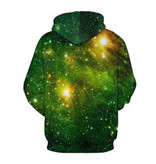 Stuff Certified® Hoodie Sweater Trui met Kap (Medium) - Green Galaxy Print - Copy