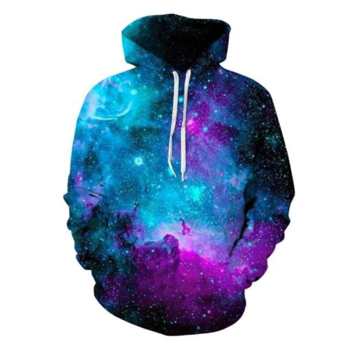 Hoodie Sweater Sweater with Hood (Large) - Galaxy Print