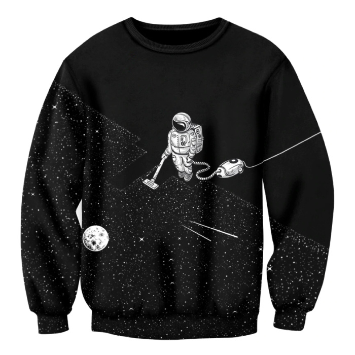 Jumper Sweater Pullover Hoodie (Medium) - Spaceman Print