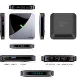 Lemfo A95X Air 8K TV Box Mediaspeler Android Kodi - 4GB RAM - 64GB Opslagruimte + Draadloos Toetsenbord