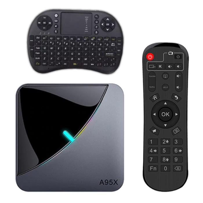 A95X Air 8K TV Box Mediaspeler Android Kodi - 4GB RAM - 64GB Opslagruimte + Draadloos Toetsenbord