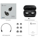Edifier TWS1 Draadloze Smart Touch Control Oortjes Bluetooth 5.0 Air Wireless Pods Earphones Earbuds 500mAh Groen