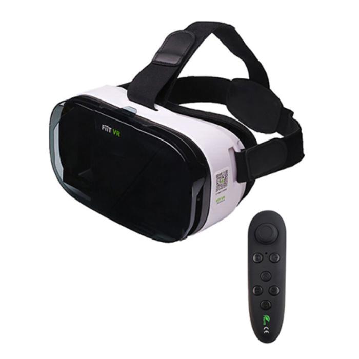 2N VR lunettes de réalité virtuelle 3D 120 ° avec télécommande Bluetooth pour smartphones
