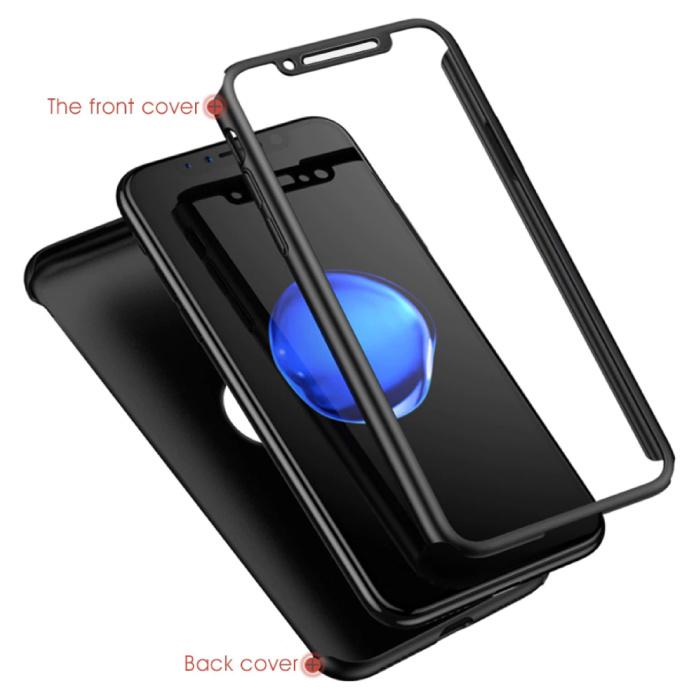 Stuff Certified® iPhone SE Full Body 360°  Full Cover Hoesje + Screenprotector Zwart