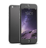 Stuff Certified® iPhone 7 Full Body 360 Full Cover Case + Screen Protector Noir