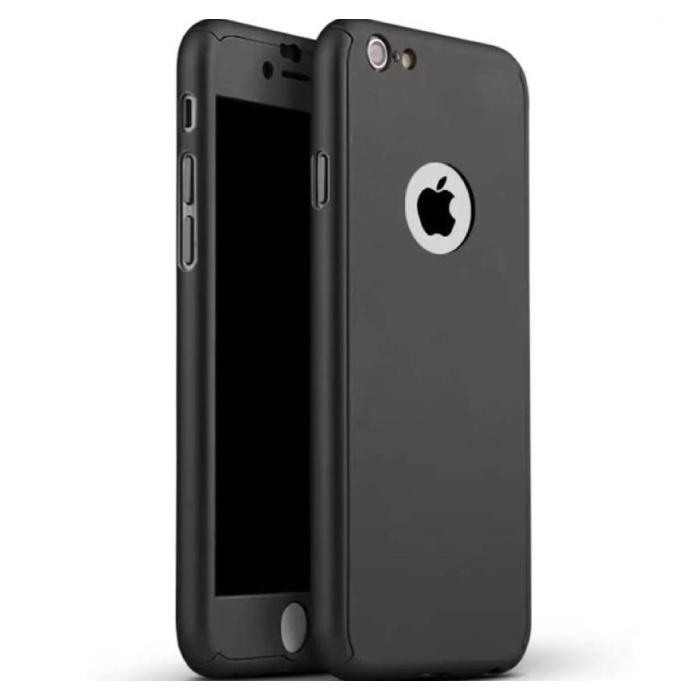 Stuff Certified® iPhone 7 plus Full Body 360 Full Cover Case + Screen Protector Noir
