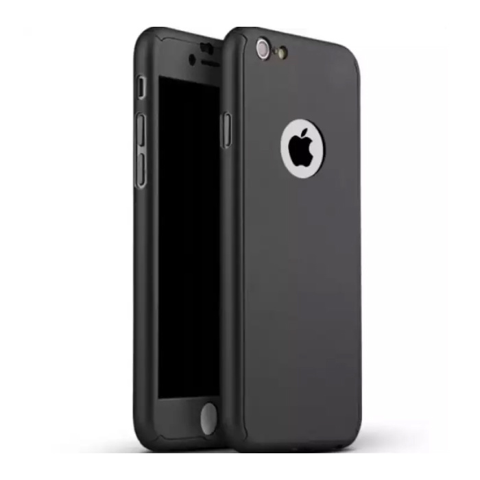 iPhone 8 Full Body 360 Full Cover Case + Screen Protector Noir