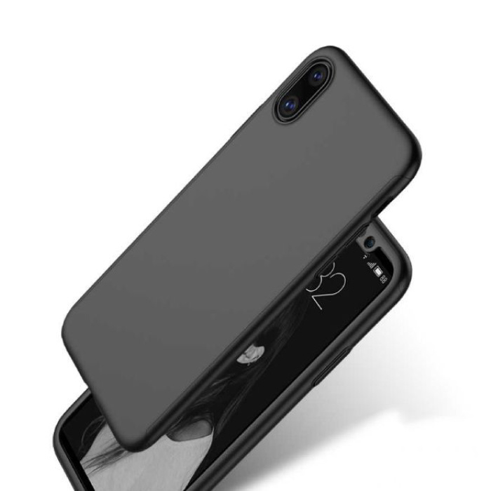 Stuff Certified® iPhone XS Full Body 360°  Full Cover Hoesje + Screenprotector Zwart