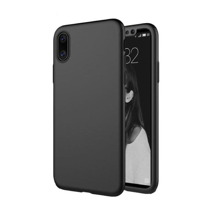 iPhone XS Max Full Body 360°  Full Cover Hoesje + Screenprotector Zwart