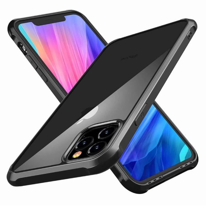 iPhone 11 Pro Max Full Body 360 ° Full Cover Case + Protecteur d'écran Noir