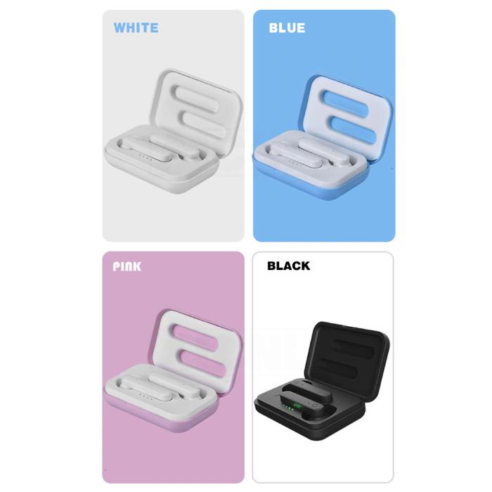 Aicnly X12 TWS Draadloze Oortjes Bluetooth 5.0 Air Wireless Pods Earphones Earbuds Roze