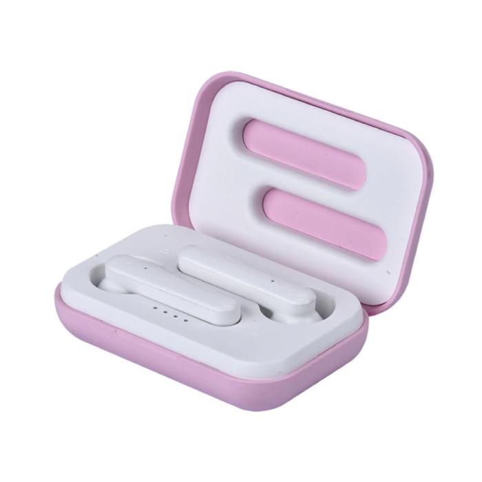 X12 TWS Draadloze Oortjes Bluetooth 5.0 Air Wireless Pods Earphones Earbuds Roze