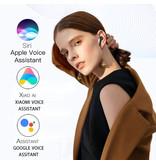 Aicnly X12 TWS Draadloze Oortjes Bluetooth 5.0 Air Wireless Pods Earphones Earbuds Blauw
