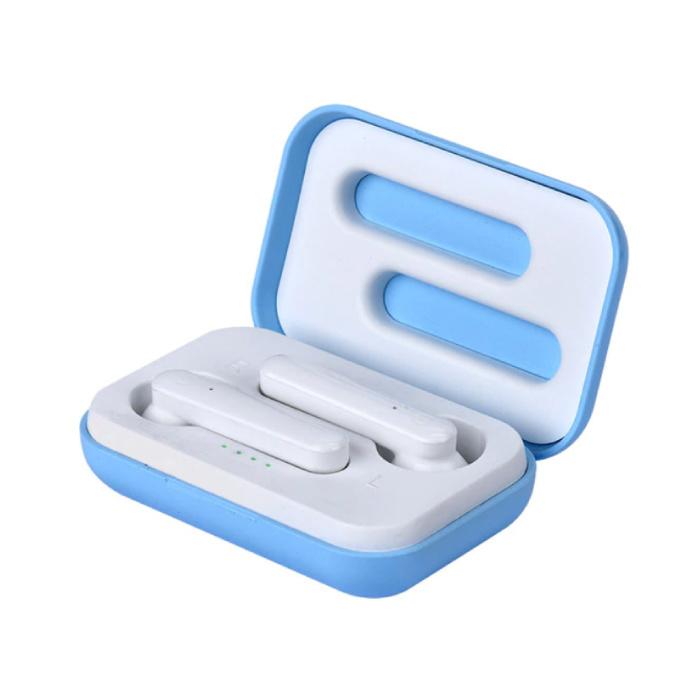 X12 TWS Draadloze Oortjes Bluetooth 5.0 Ear Wireless Buds Earphones Earbuds Oortelefoon Blauw