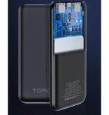 TOPK 10.000mAh Externe Powerbank Noodaccu Oplader Charger