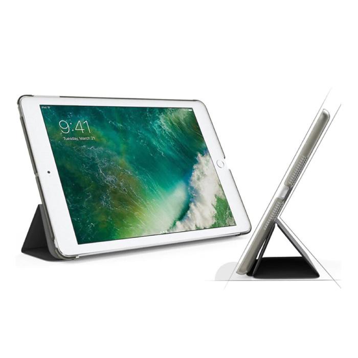 Stuff Certified® iPad 2  Leren Vouwbare Cover Hoesje Case Blauw