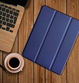"""Stuff Certified® iPad Pro 10.5"""" Leren Vouwbare Cover Hoesje Case Blauw"""