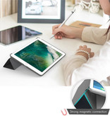 Stuff Certified® iPad 2  Leren Vouwbare Cover Hoesje Case Groen