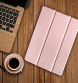 Stuff Certified® iPad 10.2' (2019)  Leren Vouwbare Cover Hoesje Case Roze