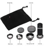 Stuff Certified® 3 en 1 Appareil photo universel Clip objectif pour les Smartphones Argent - Fisheye / Grand angle / macro objectif