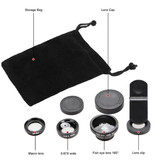 Stuff Certified® 3 en 1 Appareil photo universel Clip objectif pour les Smartphones Gold - Fisheye / Grand angle / macro objectif