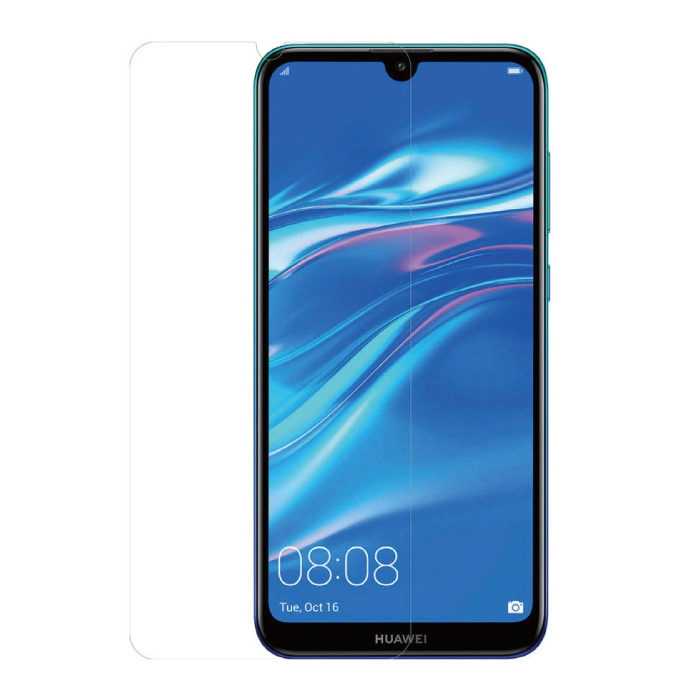 Huawei Y7 2019 Screen Protector Foil Folie PET Vouwbare Beschermfolie Film