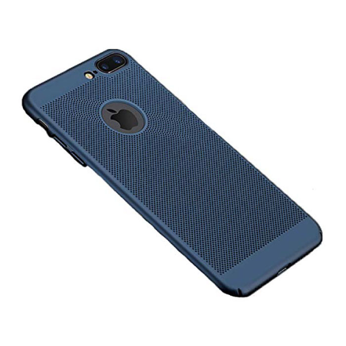 iPhone SE (2020)  - Ultra Slanke Case Warmteafvoer Cover Cas Hoesje Blauw