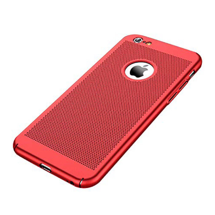 iPhone SE (2020)  - Ultra Slanke Case Warmteafvoer Cover Cas Hoesje Rood