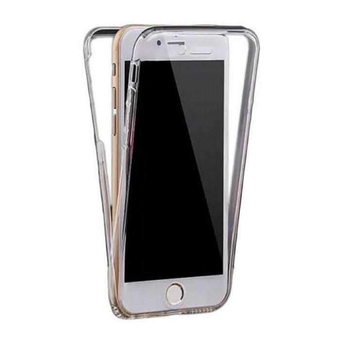 Stuff Certified® iPhone SE (2020) Full Body 360° Transparant TPU Silicone Hoesje + PET Screenprotector