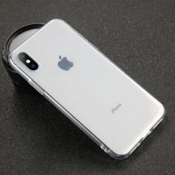 USLION Ultraslim iPhone SE (2020) Silicone Hoesje TPU Case Cover Transparant