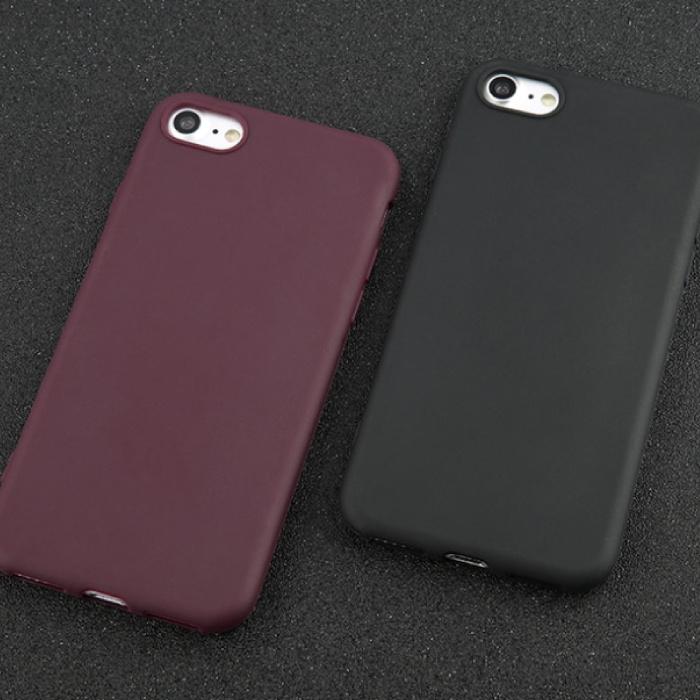 USLION Ultraslim iPhone SE (2020) Silicone Hoesje TPU Case Cover Paars
