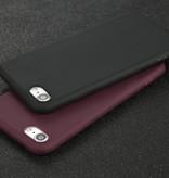 USLION Ultraslim iPhone SE (2020) Silicone Hoesje TPU Case Cover Wit