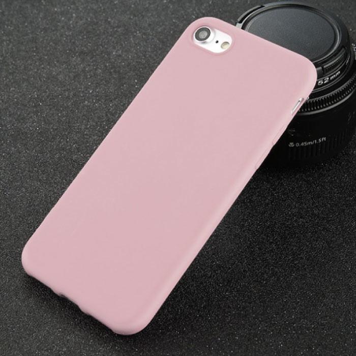 USLION Ultraslim iPhone SE (2020) Silicone Case TPU Case Cover Pink