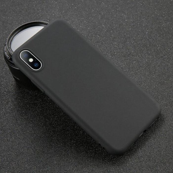 USLION iPhone SE (2020) Ultra Slim Etui en silicone TPU Case Cover Noir