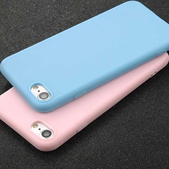 USLION Ultraslim iPhone SE (2020) Silicone Hoesje TPU Case Cover Blauw