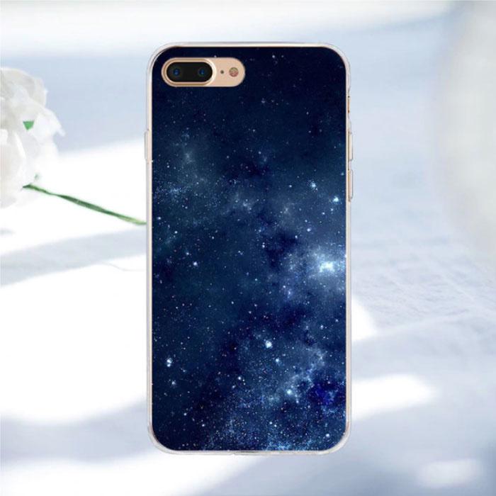 Stuff Certified® iPhone SE (2020) - Space Star Case Cover Cas Soft TPU Case
