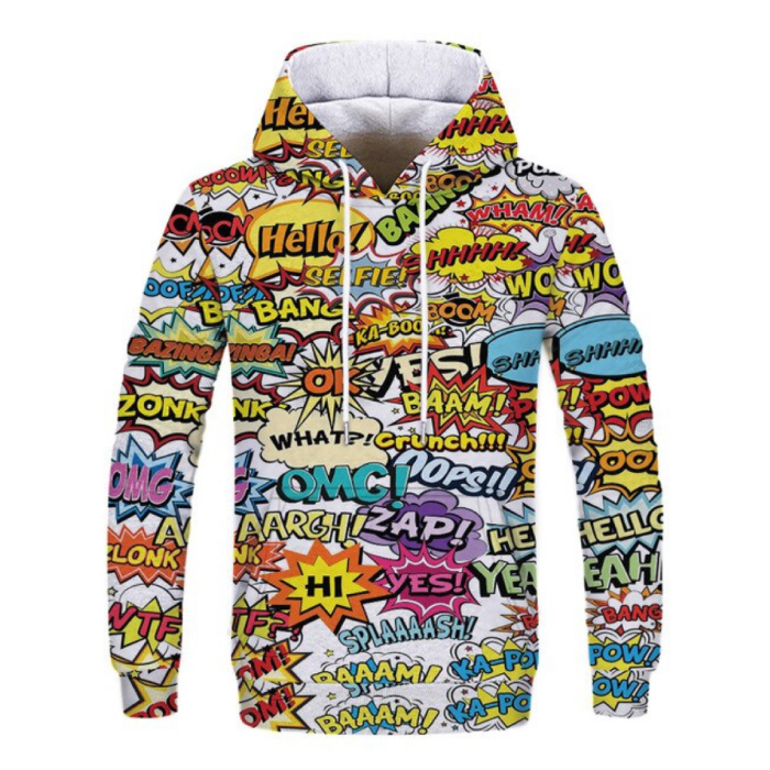Stuff Certified® Hoodie Sweater Sweater with Hood (Large) - Comic Print