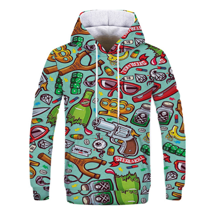 Stuff Certified® Hoodie Sweater Sweater with Hood (Large) - Pop Art Print