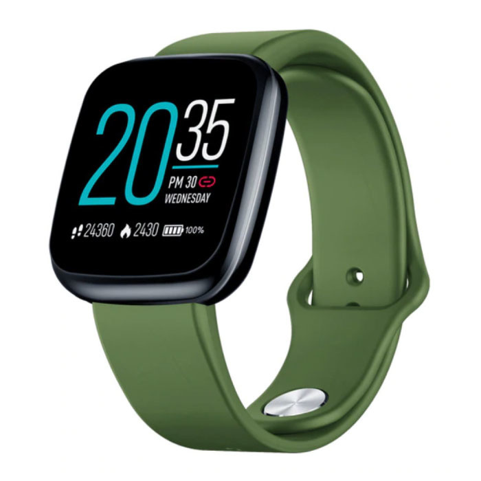 Crystal 3 Smartwatch Smartband Smartphone Fitness Sport Activity Tracker Horloge IPS iOS Android iPhone Samsung Huawei Groen