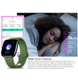 Zeblaze Crystal 3 Smartwatch Smartband Smartphone Fitness Sport Activity Tracker Horloge IPS iOS Android iPhone Samsung Huawei Groen