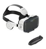 BOBO VR VR Virtual Reality 3D Bril 120° Met Bluetooth Afstandsbediending voor Smartphones Wit