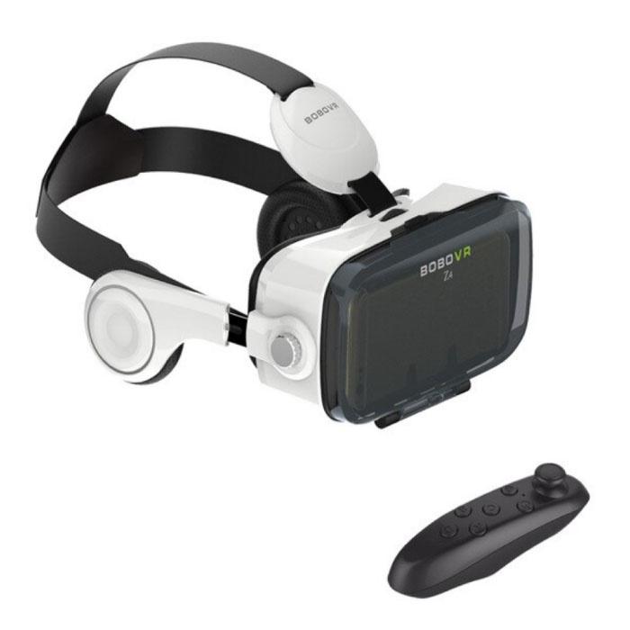 VR Virtual Reality 3D Bril 120° Met Bluetooth Afstandsbediending voor Smartphones Wit