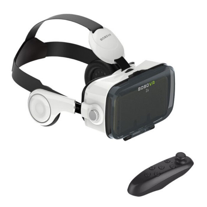 VR Virtual Reality 3D Glasses 120 ° With Bluetooth Remote Control for Smartphones White