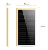 Stuff Certified® External 30,000mAh Solar Charger Powerbank Solar Panel Emergency Battery Battery Charger Black