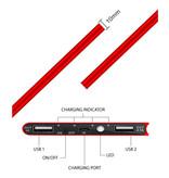 Stuff Certified® Chargeur solaire externe 30.000mAh Banque d'alimentation d'urgence de batterie solaire Chargeur de batterie rouge