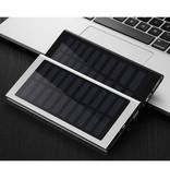 Stuff Certified® External 30,000mAh Solar Charger Power Bank Solar Panel Emergency Battery Battery Charger Blue