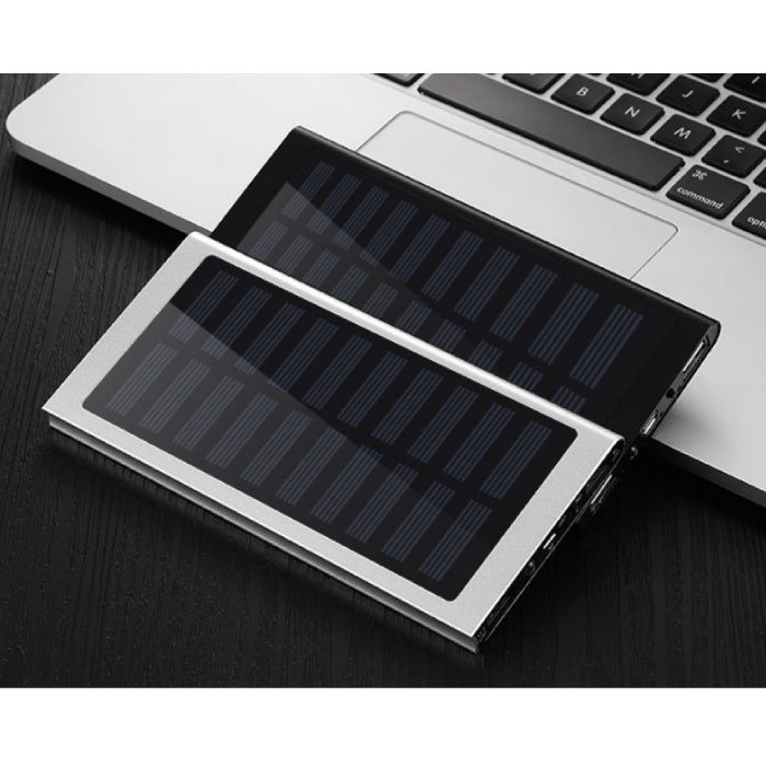 Stuff Certified® Externe 30.000mAh Solar Charger Powerbank Zonnepaneel Noodaccu Batterij Oplader Blauw