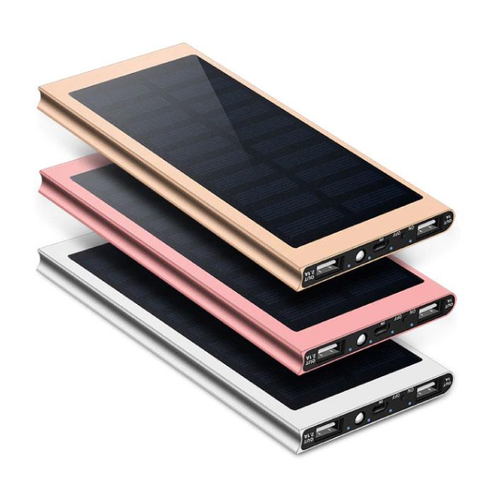 Stuff Certified® Chargeur solaire externe 30.000mAh Banque d'alimentation d'urgence de batterie solaire Chargeur de batterie Bleu