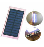 Stuff Certified® External 30,000mAh Solar Charger Power Bank Solar Panel Emergency Battery Battery Charger Pink