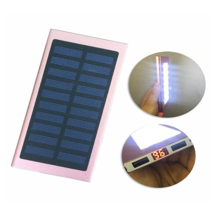 Stuff Certified® Chargeur solaire externe 30.000mAh Banque d'alimentation d'urgence de batterie solaire Chargeur de batterie Rose